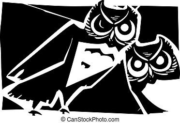 貓頭鷹, 二, 夜晚