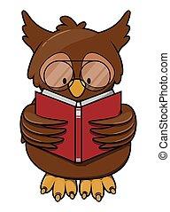 貓頭鷹, 閱讀, 書