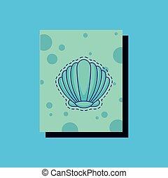 貝殻, イメージ, アイコン