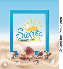 貝殻, 砂