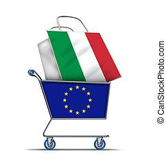 負債, イタリア, 購入, ヨーロッパ, イタリア語