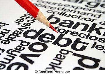 負債, 単語, 雲