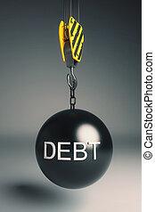 負債, 球の 破壊