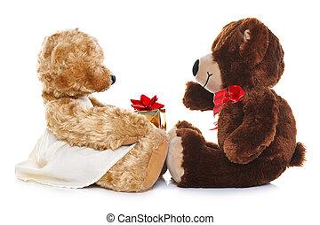 負擔, 給, 禮物, teddy