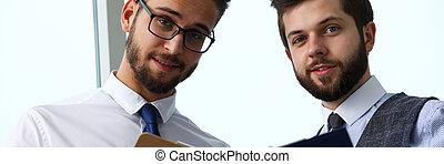 財政, オフィス, 現代, businesspeople, グループ, 問題, 討論