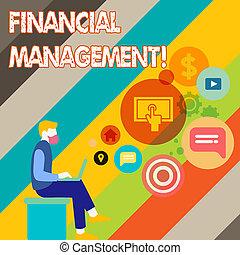 財政, ビジネス アイコン, 写真, ラップトップ, モデル, 運転手, space., 執筆, メモ, showcasing, 制御, 資源, ブランク, seo, モニタリング, 提示, management., 人
