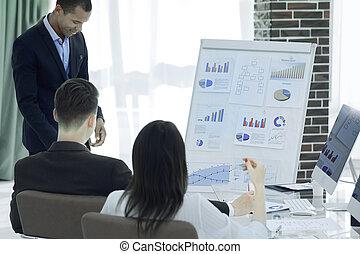 財政, ビジネス, プロジェクト, チーム, 準備する, 新しい, プレゼンテーション