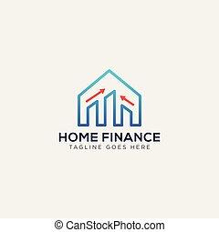 財政, ビジネス 実例, ベクトル, 家, テンプレート, ロゴ, カード