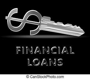 財政, ローン, ショー, 銀行, クレジット, 3d, イラスト
