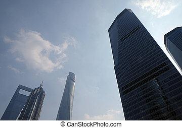 財政, 上海, タワー, pudong, 陶磁器