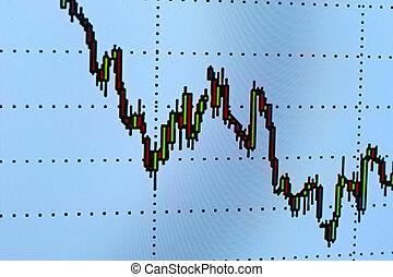 財政, 事務, 圖表, 圖表, 圖形, 錢, 數据