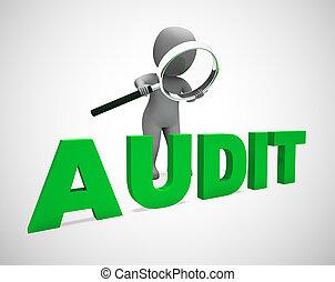 財政, 財政, 監査, 概念, ショー, 管理, アイコン, 株, -, 取得, 税, 3d, イラスト, ∥あるいは∥