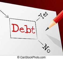 財政, 選択, 滞納, 義務, 負債, ショー