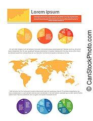 財政, 金融, ビジネス, パイ, 図, infographic, 文書