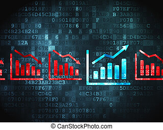 財政, concept:, 圖表, 上, 數字的背景
