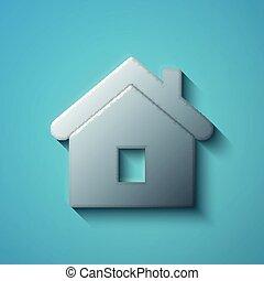 財政, concept:, 套間, 金屬, 家, 圖象, 矢量