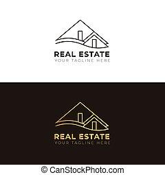 財産, ロゴ, minimalis, 実質, 金