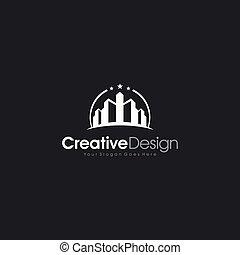 財産, 建物, 実質, 現代, ロゴ