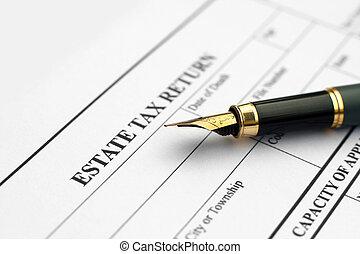 財産, 納税申告