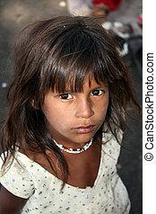 貧しい, 女の子, indian, 有望