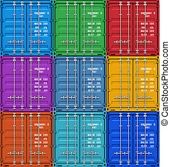 貨物容器, 顏色