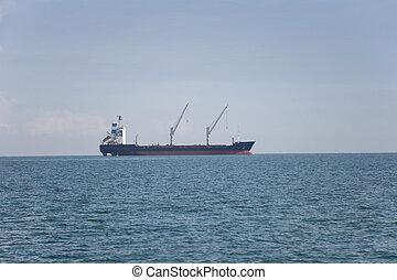 貨物船, 中に, ∥, sea.