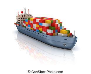 貨物船, 容器