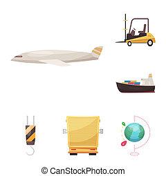 貨物, 商品, stock., ビットマップ, デザインを設定しなさい, 倉庫, icon., アイコン