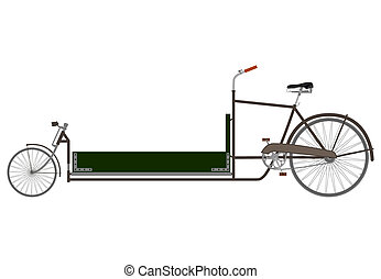貨物, 横たわっている, bike.