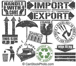 貨物, stamp.
