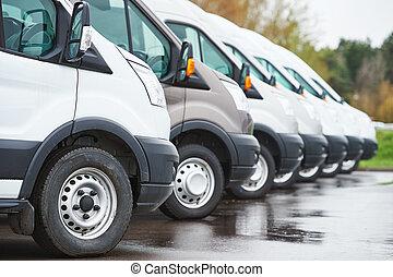貨車, 行, 運輸, company., 服務, 交付, 商業
