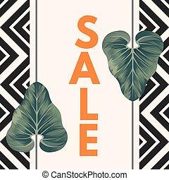 販売ポスター, ∥で∥, 2, alocasia, zulu, マスク, 葉