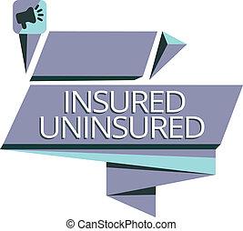販売, ビジネス, 写真, 提示, uninsured., 執筆, メモ, 保険を掛けられた, 選びなさい, チェックリスト, showcasing, 会社, 保険