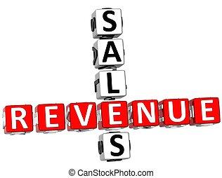 販売, 収入, クロスワードパズル