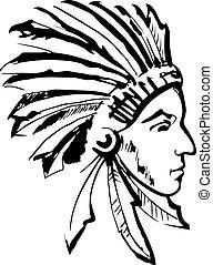 責任者, indian, white), (black