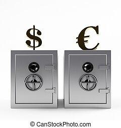 貯蔵, の, お金