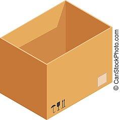 貯蔵, 箱, アイコン, 等大, スタイル