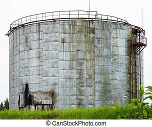 貯蔵, 階段, 産業, 古い, タンク