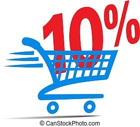 買い物カート, 10%