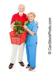 買い物客, 体, シニア, フルである