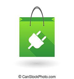 買い物袋, アイコン, ∥で∥, a, プラグ