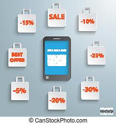 買い物袋, smartphone, セール
