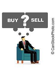 買い物, ∥あるいは∥, shares., 彼の, ∥そうするべきである∥, protray, はっきりしない, もし, 売る, ビジネス, 彼, leader., 人, スピーチ, 考え, 泡