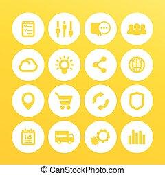 買い物, インターネット商業, セット, アイコン, 網のインターネット