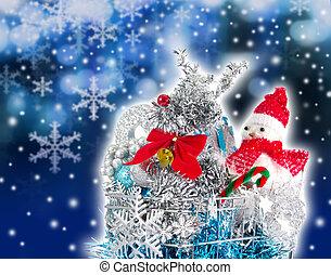買い物, クリスマス, カート