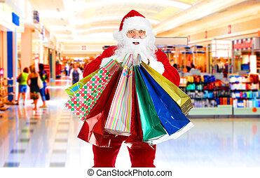 買い物, クリスマス, santa