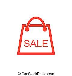 買い物, セール, テキスト, 袋, シンボル, ベクトル, 装飾