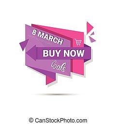 買い物, セール, 3月, 割引, 8, インターナショナル, 日, 女性