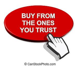 買い物, -, レンダリング, 一人一人, あなた, 信頼, 3d