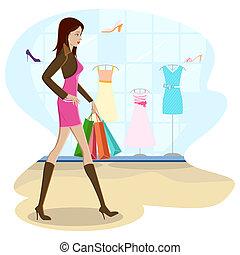 買い物, 女性